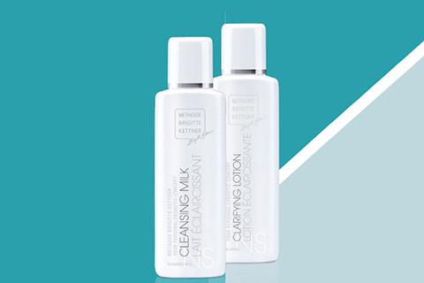 ReinigungsDuo für die normale und feuchtigkeitsarme Haut mit gratis Lotion