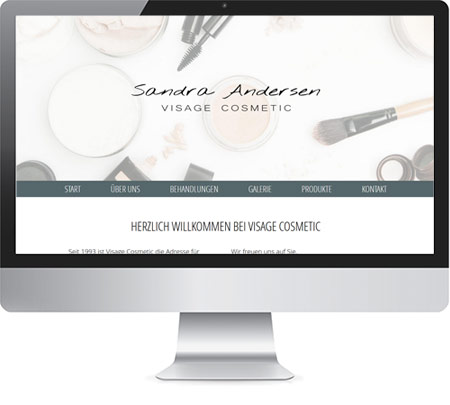 Relaunch VISAGE COSMETIC Sandra Andersen