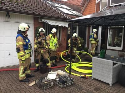 24.10.2017: Küchenbrand / Feuerwehr ist schnell vor Ort