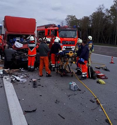 11.04.2019: Schwerer Verkehrsunfall auf der A7