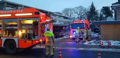 31.01.2021: Wasserrohrbruch sorgt für Feuerwehreinsatz