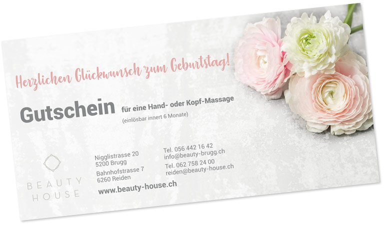 BEAUTY HOUSE Gutschein