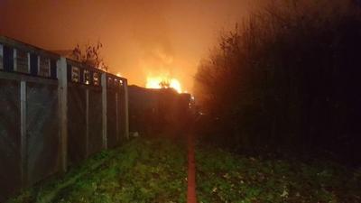 26.11.2016: Gartenhaus abgebrannt