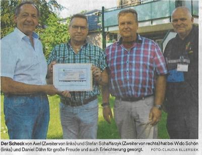 10.09.2018 - Erste Spenden für Pfingstzeltlager