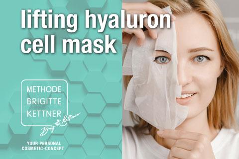 Neu: Die lifting hyaluron cell mask für zu Hause