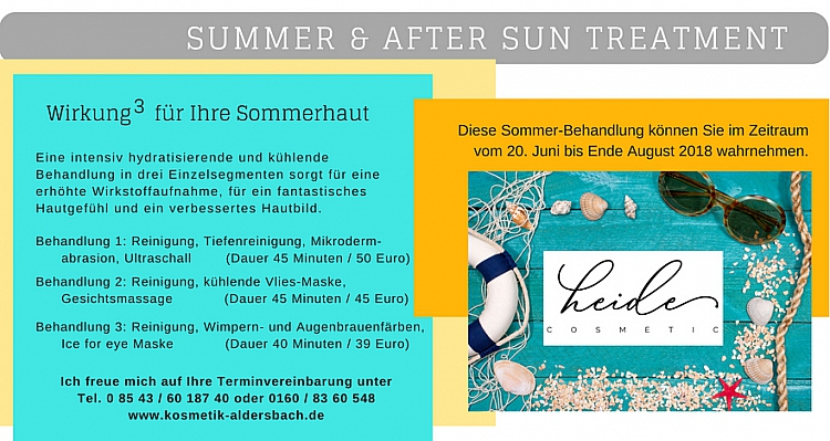 Summer & After sun treatment